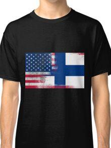 Finnish American Half Finland Half America Flag Classic T-Shirt