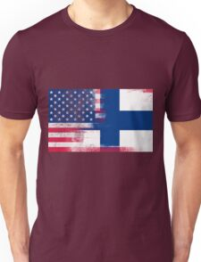 Finnish American Half Finland Half America Flag Unisex T-Shirt