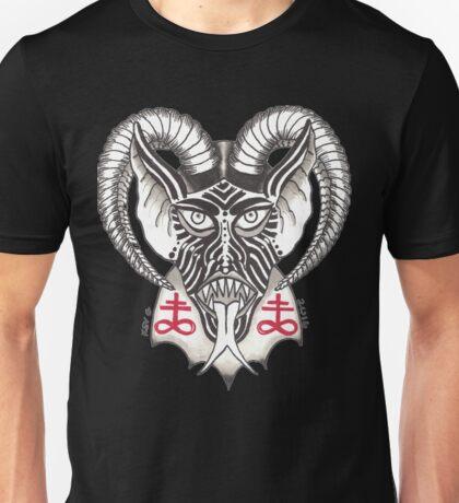 DEVIL HORNS WHT Unisex T-Shirt