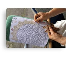 lace making Canvas Print