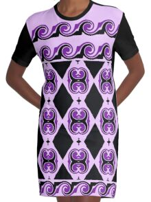 Curves, Diamonds And Curls  Graphic T-Shirt Dress