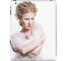 Winter beauty woman portrait iPad Case/Skin