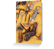 old corkscrew Greeting Card
