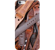 background with watch straps iPhone Case/Skin