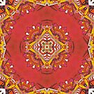 Red Indian abstract pattern by mikath