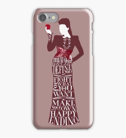 Regina Mills Make Your Own Happy Ending iPhone Case/Skin
