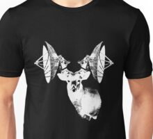 Deer with satellite dish antlers Unisex T-Shirt