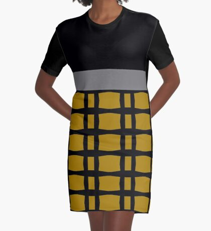 Styling With Gold, Silver And Black Graphic T-Shirt Dress