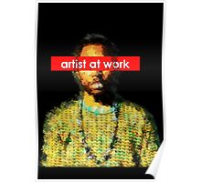 Frank - artist at work Poster
