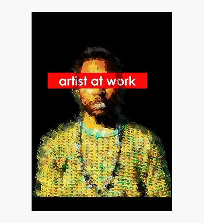 Frank - artist at work Photographic Print