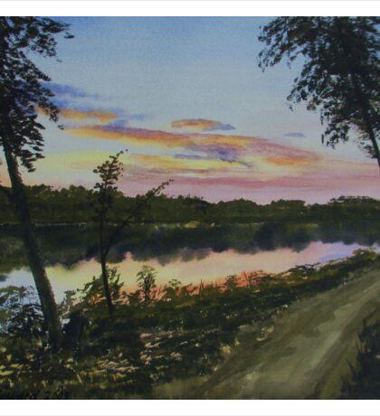 River Sunset Sticker