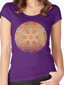 Burgkaba Mandala [No Logo] Women's Fitted Scoop T-Shirt