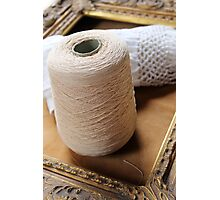 skein of wool and frame Photographic Print