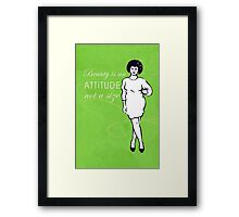 Curvy beauty: gorgeous green Framed Print