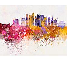 Riyadh V2 skyline in watercolor background Photographic Print
