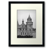 castle on the island Framed Print
