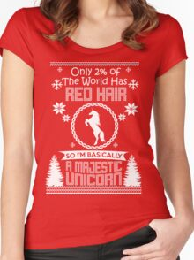 Red hair Women's Fitted Scoop T-Shirt