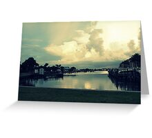landscape lake Greeting Card