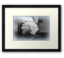 bride's bouquet Framed Print