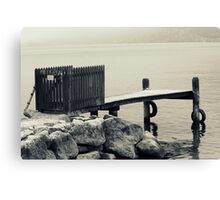 dock at lake Canvas Print