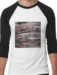 Modern rose gold abstract marbleized paint Men's Baseball ¾ T-Shirt