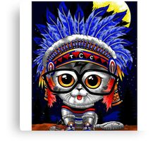 Indian Cat Funny Canvas Print