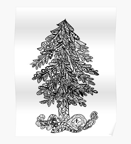 Decorative Xmas Tree Poster