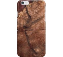 Western Worn Saddle Leather Look iPhone Case/Skin