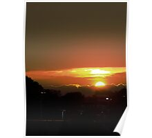 Sunset as seen from BestBuy Poster
