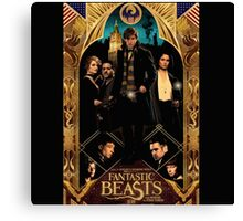 Fantastic beast and where to find them Characters Canvas Print