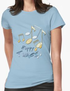 Happy Tunes Womens Fitted T-Shirt