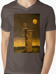 Guitar Town Mens V-Neck T-Shirt