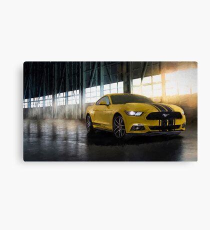 Yellow Mustang Canvas Print