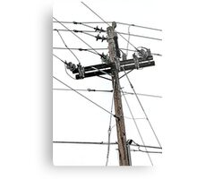 old electric pole Metal Print