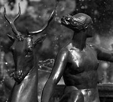 Statue Detail Hyde Park, Sydney by Brett Rogers