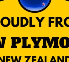 Proudly From New Plymouth New Zealand Sticker