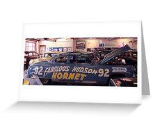 Fabulous Hudson Hornet Greeting Card