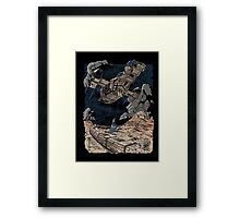 Firefly and the Blue Box Framed Print
