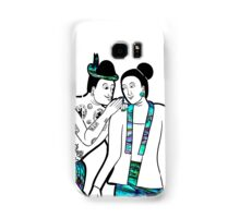 Ancient picture of Thai man whispering woman, Nan, Thailand Samsung Galaxy Case/Skin