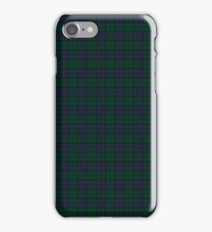 Blue green tartan iPhone Case/Skin