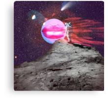 Astronaut kiss Canvas Print