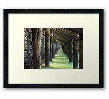 Under the Wharf Framed Print