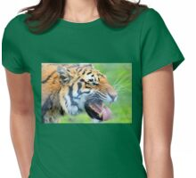 Snarling kitty Womens Fitted T-Shirt