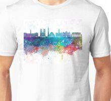Washington DC V2 skyline in watercolor background Unisex T-Shirt