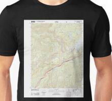 USGS TOPO Map California CA Blue Canyon 20120327 TM geo Unisex T-Shirt