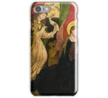 Annunciation (Master of Seitenstetten, around ) iPhone Case/Skin