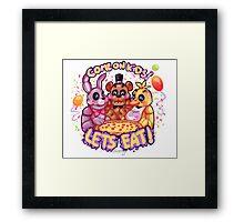Lets eat at Freddy's! Framed Print