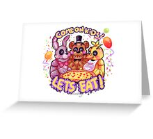 Lets eat at Freddy's! Greeting Card