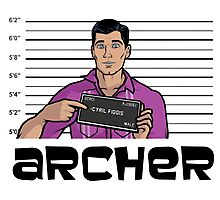 Archer Mugshot (With Title) Photographic Print