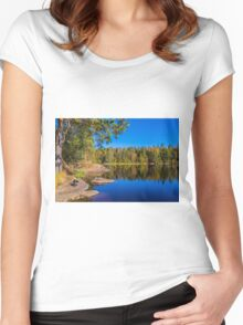 Autumn reflections Women's Fitted Scoop T-Shirt
